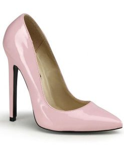 "Devious Classic 5"" Baby Pink Patent Pump"
