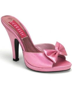 "Bordello Pink 4"" Heel Slippers"