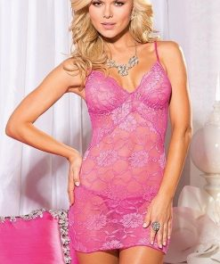 Shirley Of Hollywood Lace Chemise with G-String