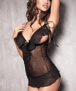 Anais Caprice Peek-A-Boo Chemise with Thong