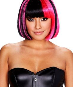 Pleasure Wigs Kitty Wig - Pink/Black