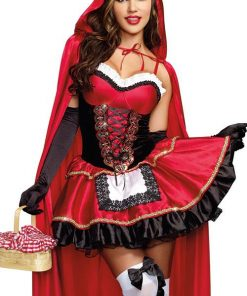 Dreamgirl 2 Pce Little Red Stunning Hood