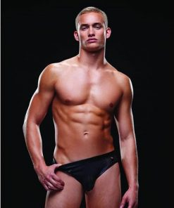 Envy E018 Wet-look Bare Back Athletic Brief