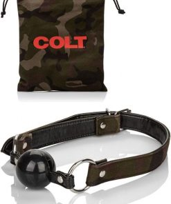 COLT Silicone Ball Gag with Camouflage & Vegan Leather Straps