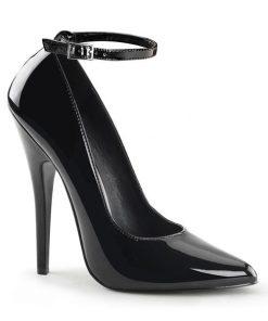 "Devious Domina 6"" Heel Pump With Ankle Strap"