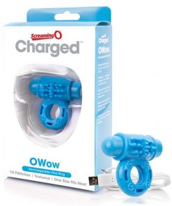Charged - O Wow Rechargeable Cock Ring by Screaming O - Blue