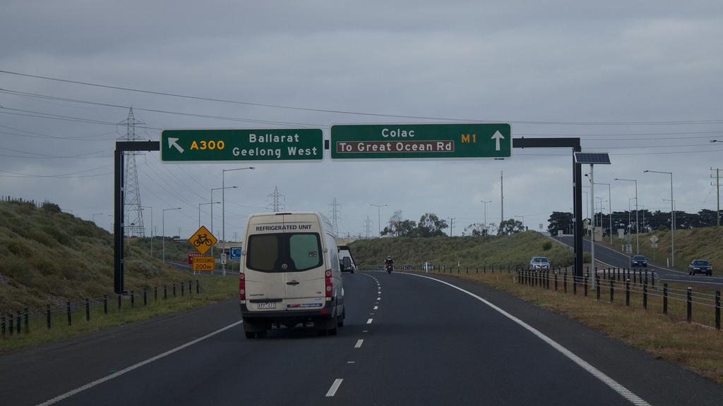 Heading toward the Great Ocean Road