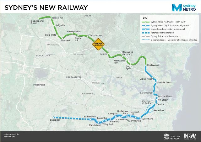 Project Management Subway Map.Rapid Metro Build For Sydney S Second Subway System Government News