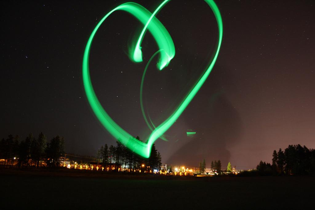 Glow in the dark heart