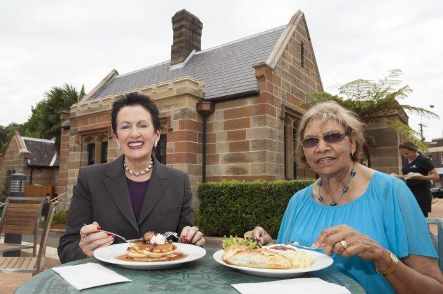 Gardeners Lodge Cafe - Lord Mayor Clover Moore and Aunty Beryl Van-OplooFINAL