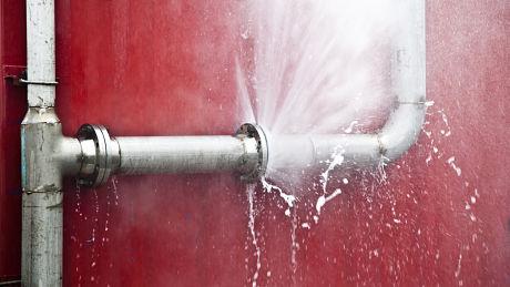High pressure pipe leaking