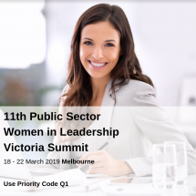 11th Public Sector Women in Leadership Victoria Summit @ Rendezvous Hotel, Melbourne