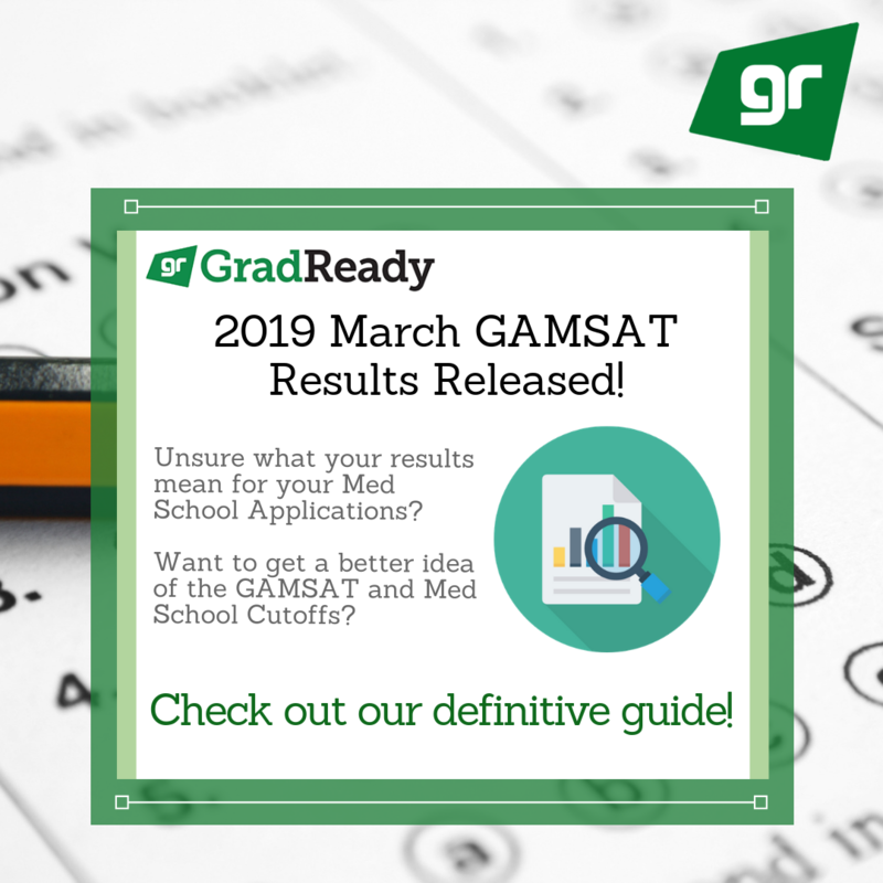 GAMSAT 2019 March Score Results Released