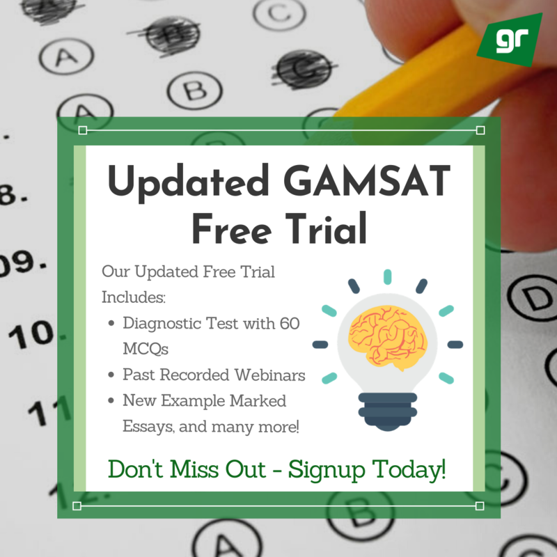 Free GAMSAT Free Trial Updated