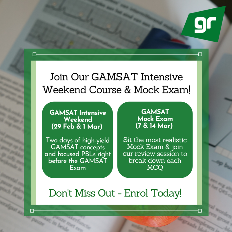 GAMSAT Intensive Weekend and Mock Exam