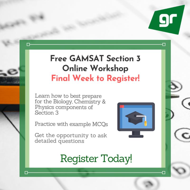 GradReady GAMSAT Section 3 Online Workshop