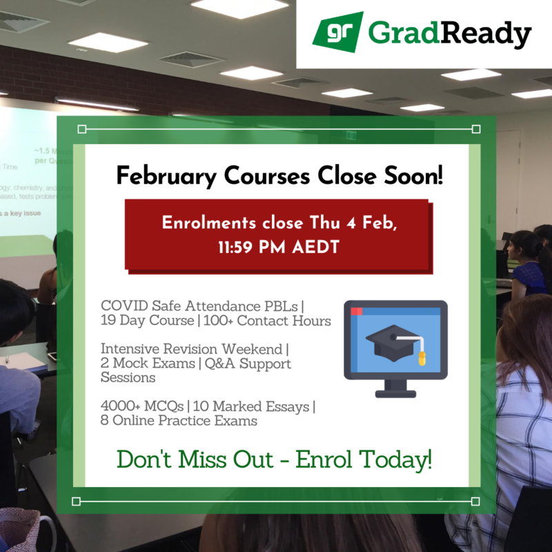 GradReady February GAMSAT Course Closing in 2 Weeks