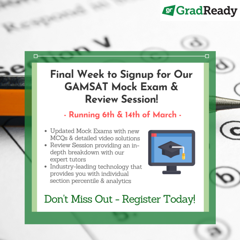 GradReady GAMSAT Mock Exam and Review Session