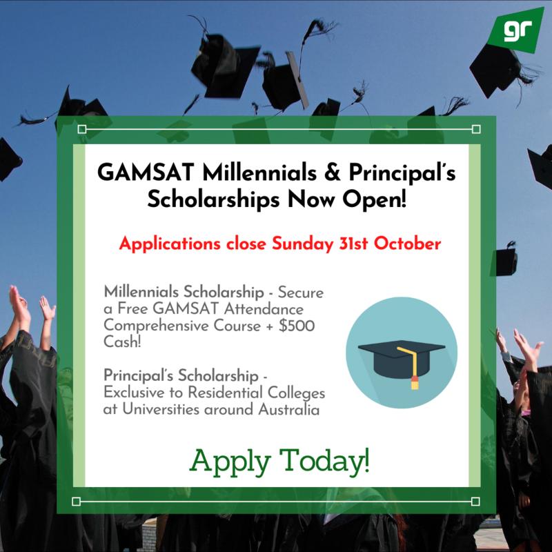GradReady GAMSAT Millennials Principal's Scholarships