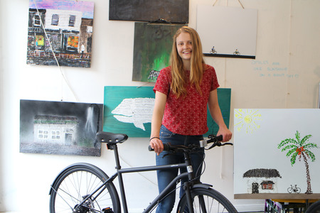 Molly gibson with 3 speed nexus bicycle 2