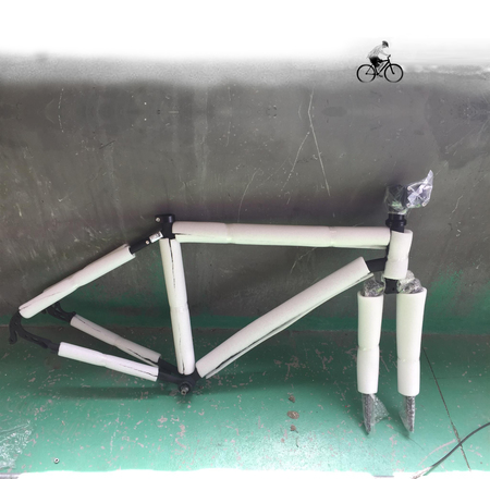Bicycle frame wrapped