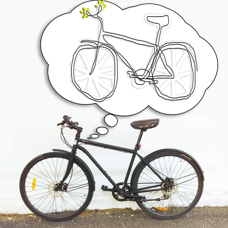 Bicycle thinking about bicycle