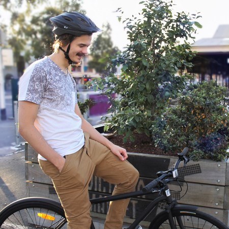 Daniel westell with an iamfre bicycle