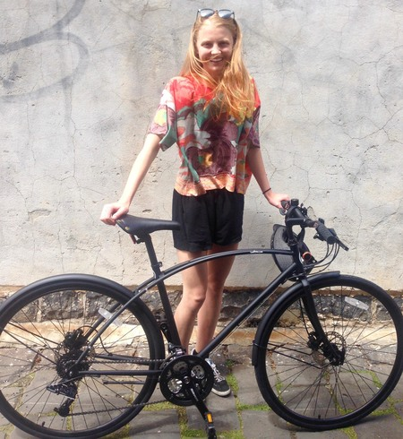 Molly gibson i am free happy face 2016 bicycle model
