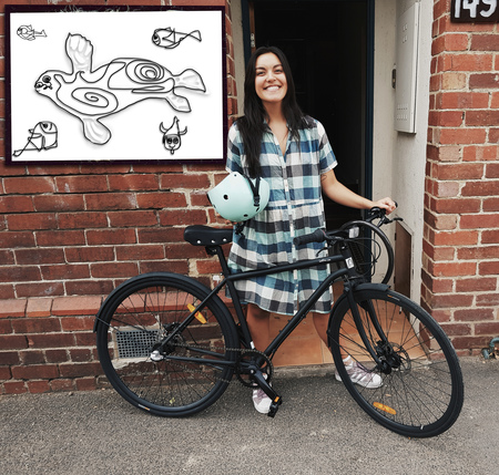 Jacinta maile bicycle seal and fish