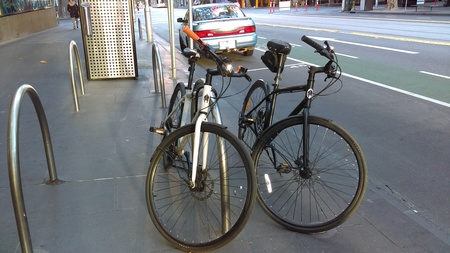 1 white and black iamfree bicycles