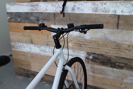 Low rise handlebar back view