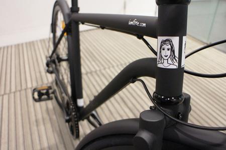Chromoly bicycle frame close up