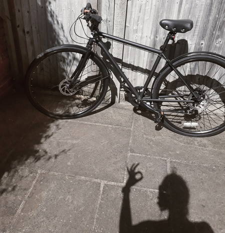 Shadow and a bicycle