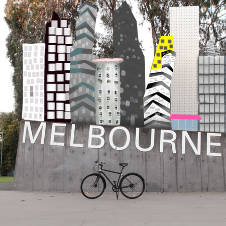 Bicycle in melbourne city