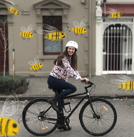 Lea wearne bees and a bicycle