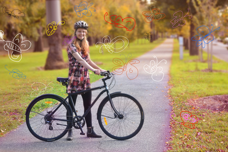 Molly gibson butterflies and bicycle