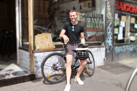Matt perger on a bicycle 2