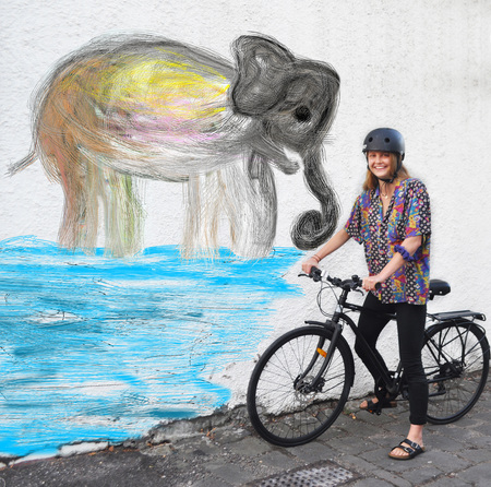 Molly gibson elephant and bicycle