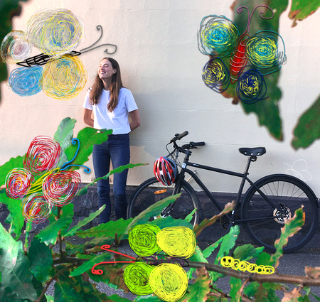 Lea wearne butterflies and a bicycle