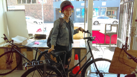 Isabelle levien with i am free bicycle