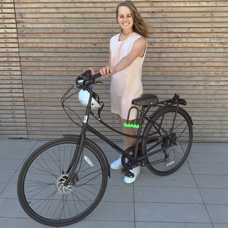 Breanna skewes with i am free bicycle