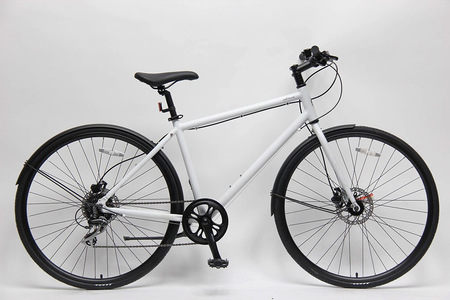 Matte white bicycle side perspective
