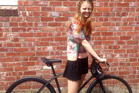 I am free bicycle molly gibson happy bicycle rider