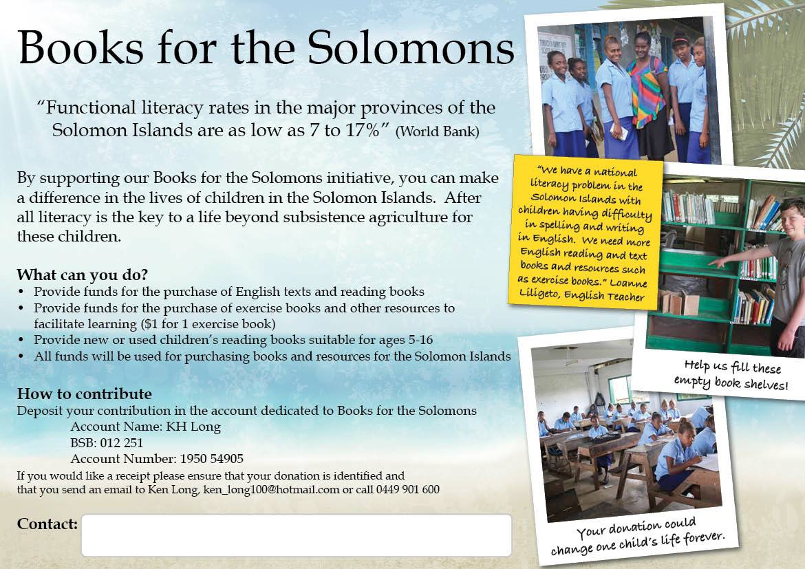 Books for the Solomons Poster