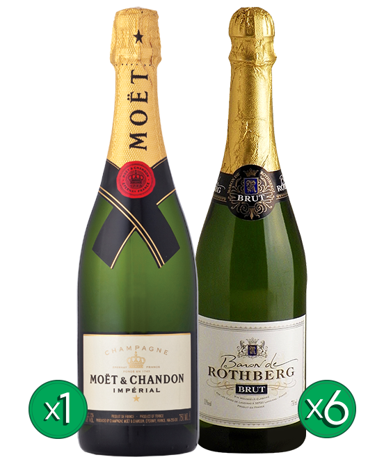 Free Moet Champagne French Baron Mixed Case