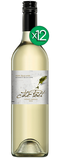 The Poet New Zealand Pinot Grigio 2016 Dozen