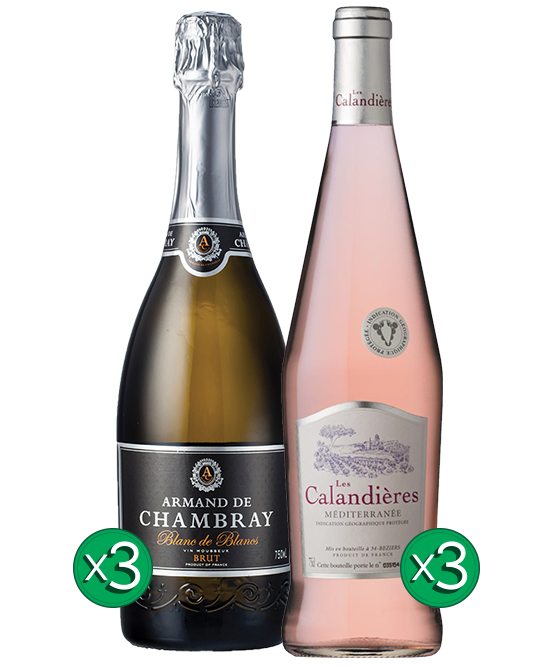 French Sparkling & Rose Mixed 6pack