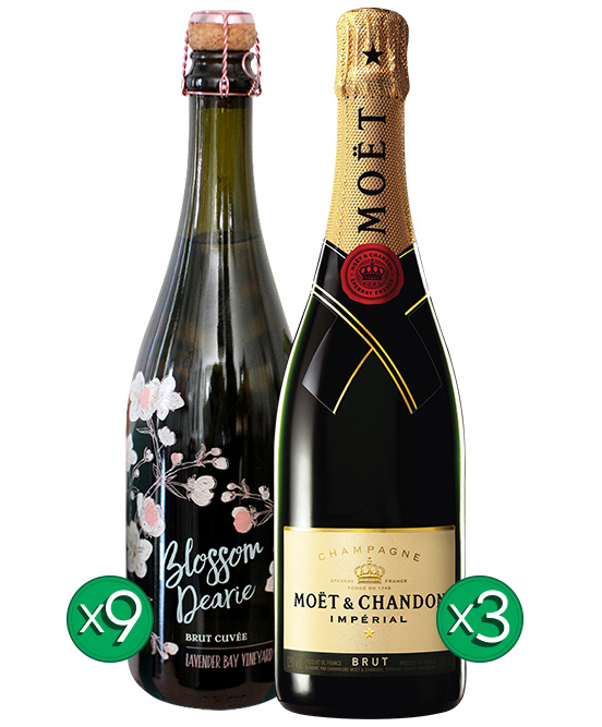 Blossom Dearie Sparkling Chardonnay Pinot Noir Moet Bundle