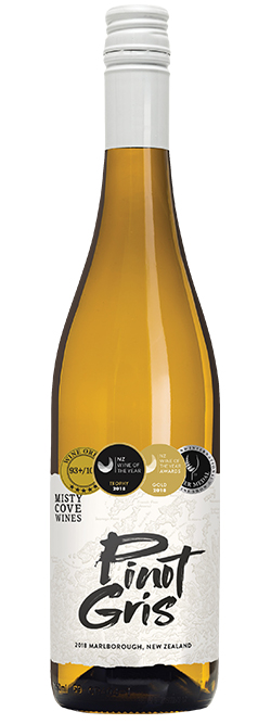 Misty Cove Marlborough Pinot Gris 2018