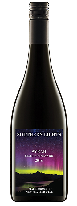 Southern Lights Marlborough Syrah 2016